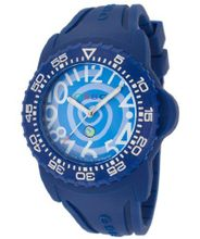 Blue Swirl Dial Blue Silicone