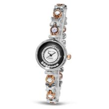 Fashion with Crystal in 18K Rose Gold Plated Stainless Steel (128937)