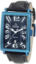 Gevril 5006A Avenue of America Swiss Automatic Blue Leather PVD