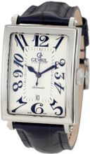 Gevril 5007A Avenue of America Swiss Automatic Handcrafted Blue Leather Band