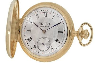 "Gevril G624.950.56 ""1758 Collection"" Mechanical Hand Wind Swiss Pocket"