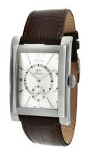 gino franco 902BR Stainless Steel Case and Genuine Leather Strap