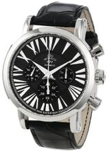 Gio Monaco 120-A oneOone Automatic Black Dial Alligator Leather Chronograph