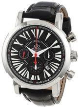 Gio Monaco 264-A Maranello Automatic Black Alligator Leather Chronograph