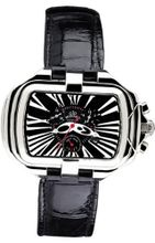 Gio Monaco 280-A PrimaDonna Rectangular Black Alligator Leather Chronograph