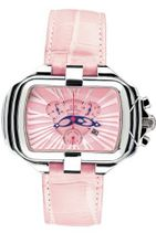 Gio Monaco 287-A PrimaDonna Rectangular Pink Alligator Leather Chronograph