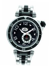 Gio Monaco 651 Poseidon Black Dial Steel and Black PVD