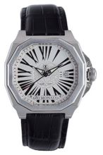 Gio Monaco 704-A Medusa Octagon White Dial Black Alligator Leather