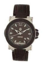 Gio Monaco 764B-A Graffiti Automatic Brown Dial Alligator Leather
