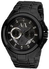 Armani AX Exchange Miami Chronograph Black Dial Black Ion-plated AX1116