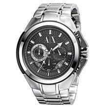 Armani AX Exchange Miami Chronograph Black Dial Stainless Steel AX1039
