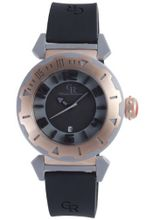 Giulio Romano GR-5000-13-007.09 Ferrara Rose Gold IP Rotating Bezel Black Dial