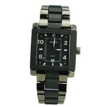 BADACE2050 Casual Style Square Dial Date display Quartz -Black