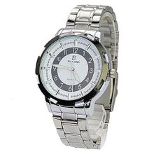 BIAOQI 608G Waterproof Stainless Steel Quartz Movement -White Dial