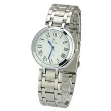 BIAOQI 612G Waterproof Stainless Steel Quartz Movement -White Dial