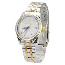 BIAOQI AE-1118 Stylish Stainless Steel Date Display Automatic Mechanical Wrist -Silvery and Golden Band White Dial