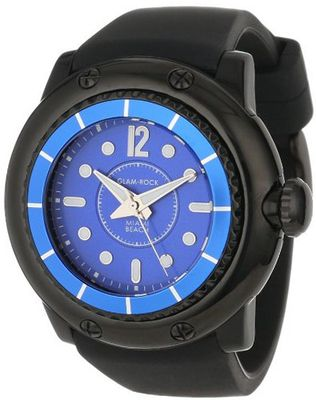 Glam Rock MB26019 Miami Beach Blue Dial Black Silicone