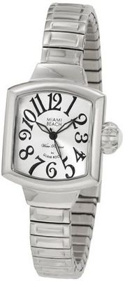 Glam Rock MBD27041 Miami Beach Art Deco Silver Dial Stainless Steel