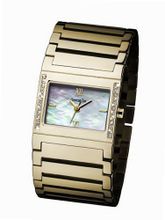 Glamour Time GT310G3-2 Ladys Wrist Gold plated Stainless Steel Strap