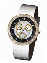 Glamour Time GT800G3-1wh Ladys Wirst White Leather Strap