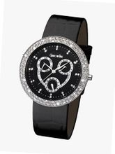 Glamour Time GT800ST1-1 Ladys Wrist Black Leather Strap