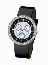 Glamour Time GT800ST3-1 Ladys Wrist Black Leather Strap