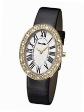 Glamour Time GT900G5-1 Ladys Wrist Black Leather Strap