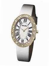 Glamour Time GT900G5-1wh Ladys Wrist White Leather Strap