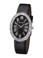 Glamour Time GT900ST1-1 Ladys Wrist Black Leather Strap