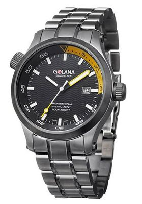 Golana Aqua Pro Black Swiss Made Divers AQ140-4