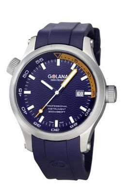 Golana Aqua Quartz with Blue Dial Analogue Display and Blue Rubber Strap AQ100-9