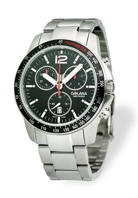 Golana Terra Pro Black Swiss Made All Terrain Chronograph TE200-6