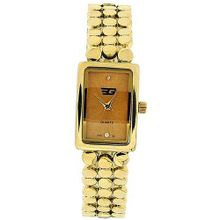 Golddigga Ladies Analogue Gold Dial Gold Tone Metal Bracelet Strap DIG34B