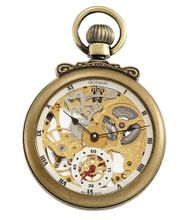 Gotham Antique Gold-Tone Mechanical Pocket with Built-in Stand # GWC14068G