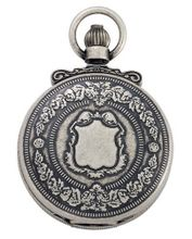 Gotham Antique Silver-Tone Double Cover Exhibition Mechanical Pocket # GWC14063S