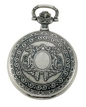 Gotham Antiqued Silver-Tone Swiss Quartz Date Covered Pocket # GWC14080S