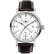 Graf Zeppelin Nordstern Series Swiss Quartz GMT with Coin-Edge Case 7546-1