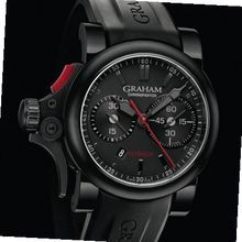 Graham Chronofighter R.A.C Trigger Chronofighter Trigger Flyback in black
