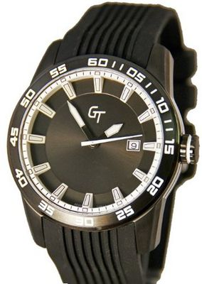 Great Timing GT 10-Year Lithium Battery Sporty Black with White Swiss GTA9360bk-whi