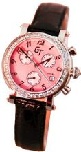 Great Timing GT Pink MOP Dial White Sapphire Bezel Chrono Swiss GTA4800-pin
