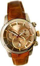 Great Timing GT Swiss Chrono 10ATM Brown Band Rose Gold Accents GTA9829W-s-brn