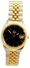 Great Timing GT Unisex 2-Tone 10ATM Black Dial Link Band Date Swiss GTA4508T-blk
