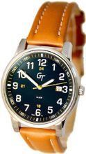 Great Timing GT Unisex Easy Read Numerals Date Tan and Blue Swiss GTA9340W-s-blu