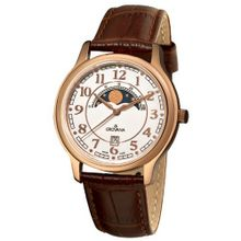 Grovana 1026.1563 Moonphase Brown Strap Rose Goldtone Moonphase