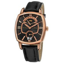 Grovana 1717.1567 Traditional Traditional Black Leather Strap Quartz