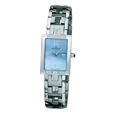Grovana Quartz with Mother Of Pearl Dial Analogue Display and Silver Stainless Steel Plated Bracelet 4560.7134