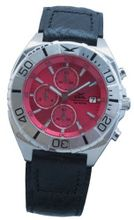 GUL Chrono 05, Croco Leather strap, Red