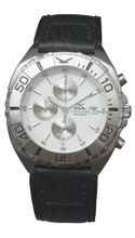 GUL Chrono 05, Croco Leather strap, White