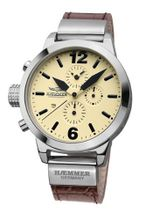 Haemmer DHC-12 Secrets Brown Leather Strap Chronograph