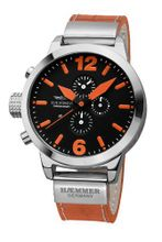 Haemmer DHC-26 Primavera Chronograph Stainless Steel Orange Leather Date